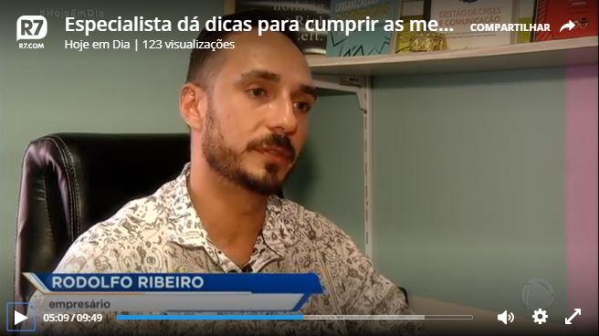 Entrevista 7wavse com Rodolfo no programa Hoje em Dia